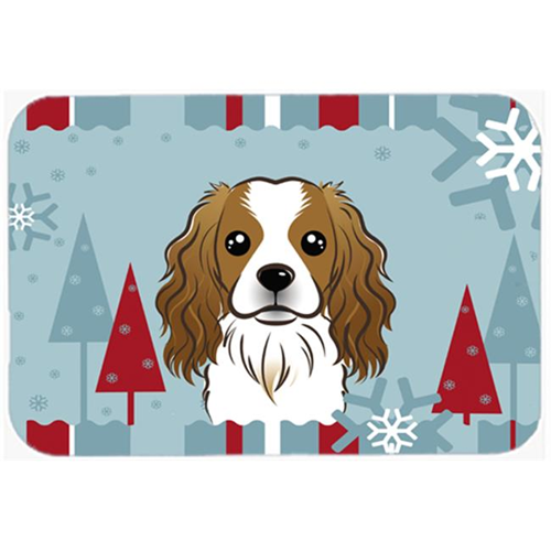 Carolines Treasures BB1720MP Winter Holiday Cavalier Spaniel Mouse Pad Hot Pad & Trivet