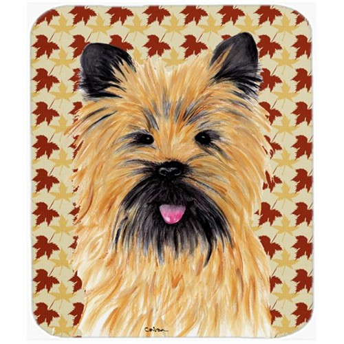 Carolines Treasures SC9215MP Cairn Terrier Fall Leaves Portrait Mouse Pad Hot Pad or Trivet