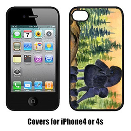 Carolines Treasures SS8196IP4 Poodle Cell Phone cover IPhone 4