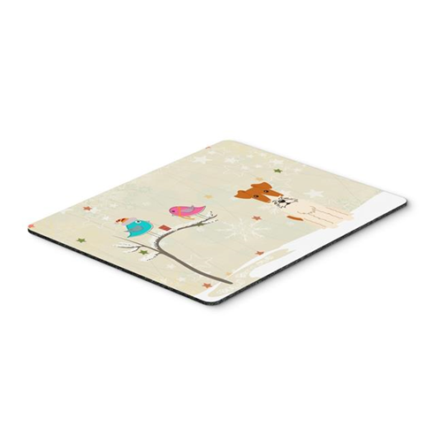 Carolines Treasures BB2573MP Christmas Presents Between Friends Wire Fox Terrier Mouse Pad Hot Pad or Trivet
