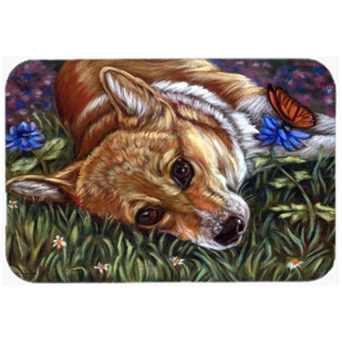 Carolines Treasures 7325MP Corgi Pastel Butterfly Mouse Pad Hot Pad & Trivet