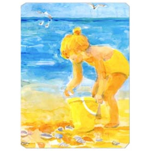 Carolines Treasures 6016MP 9.5 x 8 in. Little Girl at the beach Mouse Pad Hot Pad Or Trivet