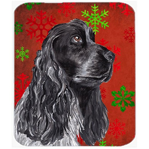 Carolines Treasures SC9582MP 7.75 x 9.25 in. Cocker Spaniel Red Snowflake Christmas Mouse Pad Hot Pad or Trivet