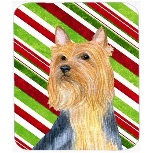 Carolines Treasures LH9226MP Silky Terrier Candy Cane Holiday Christmas Mouse Pad Hot Pad Or Trivet