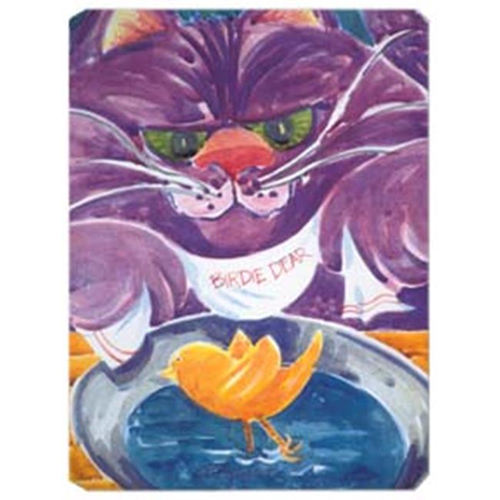 Carolines Treasures 6004MP 9.5 x 8 in. Purple Cat Birdie Dear Mouse Pad Hot Pad Or Trivet