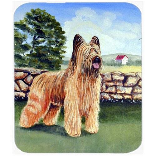 Carolines Treasures 7003MP 9.5 x 8 in. Briard By the Stone Fence Mouse Pad Hot Pad or Trivet
