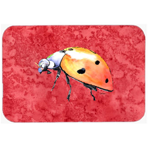 Carolines Treasures 8868MP 9.5 x 8 in. Lady Bug on Red Mouse Pad Hot Pad or Trivet