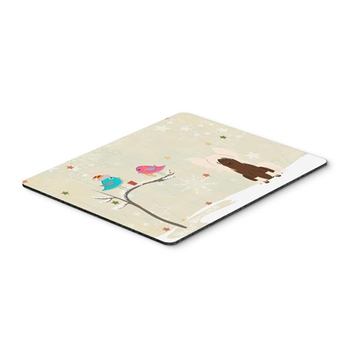 Carolines Treasures BB2585MP Christmas Presents Between Friends Chinese Crested Cream Mouse Pad Hot Pad or Trivet