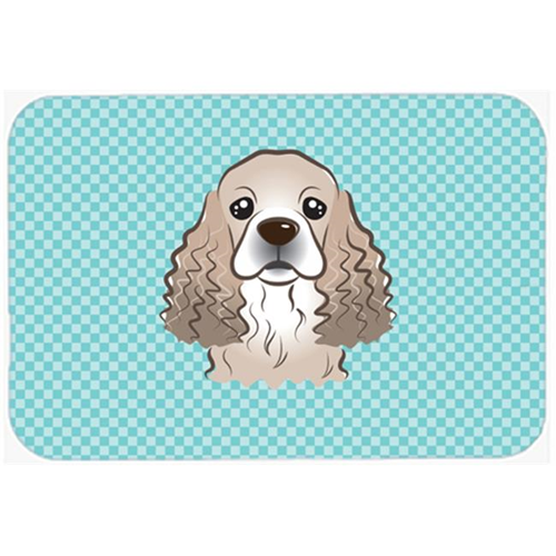 Carolines Treasures BB1154MP Checkerboard Blue Cocker Spaniel Mouse Pad Hot Pad Or Trivet 7.75 x 9.25 In.
