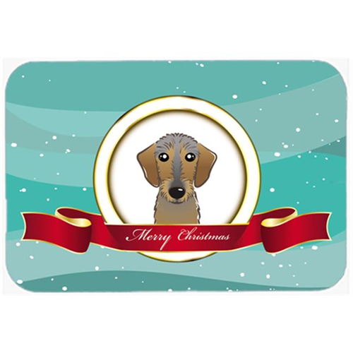 Carolines Treasures BB1543MP Wirehaired Dachshund Merry Christmas Mouse Pad Hot Pad & Trivet