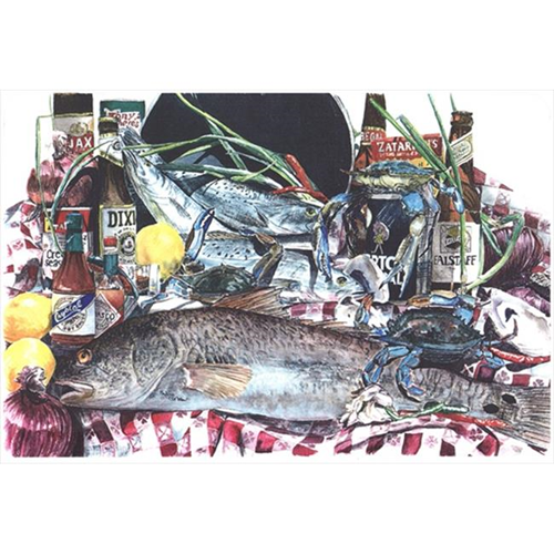 Carolines Treasures 1001MP 9.25 x 7.75 in. Fish and Beers from New Orleans Mouse Pad Hot Pad Or Trivet