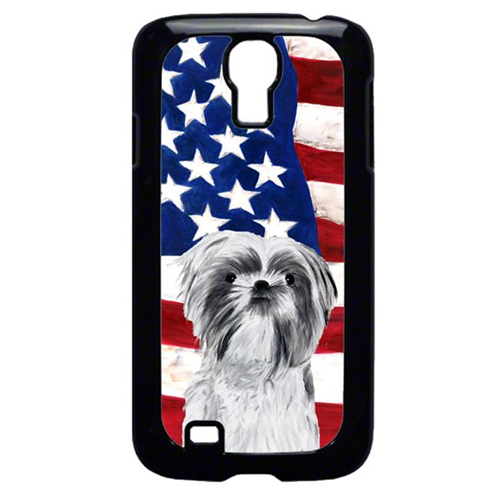 Carolines Treasures SC9015GALAXYS4 USA American Flag with Shih Tzu Cell Phone Cover GALAXY S4