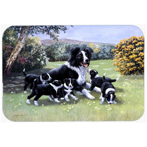 Carolines Treasures BDBA0257MP Border Collie Puppies with Momma Mouse Pad Hot Pad or Trivet