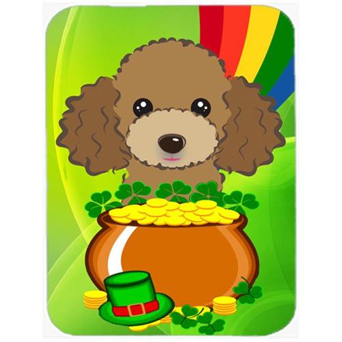 Carolines Treasures BB2000MP Chocolate Brown Poodle St. Patricks Day Mouse Pad Hot Pad or Trivet
