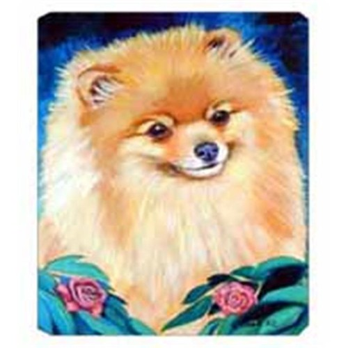 Carolines Treasures 7165MP 8 x 9.5 in. Pomeranian Garden Bud Mouse Pad Hot Pad Or Trivet