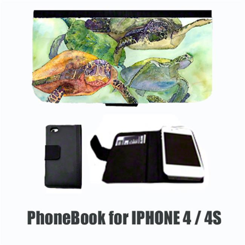 Carolines Treasures 8549-NBIP4 Turtle Cell Phonebook Cell Phone case Cover for IPHONE 4 or 4S