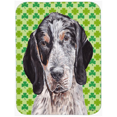 Carolines Treasures SC9721MP Blue Tick Coonhound Lucky Shamrock St. Patricks Day Mouse Pad Hot Pad Or Trivet 7.75 x 9.25 In.
