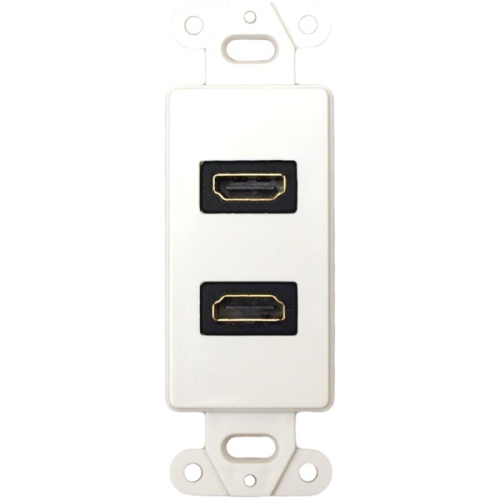 DataComm Electronics DT204502WH 20-4502-WH Decor Wallplate Insert Dual 90 Degree HDMI Connector White