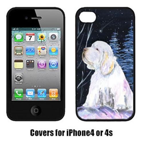Carolines Treasures SS8346IP4 Clumber Spaniel Cell Phone Cover Iphone4