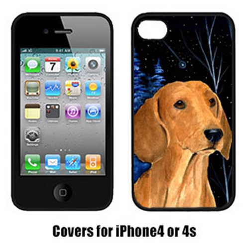 Carolines Treasures SS8379IP4 Starry Night Dachshund Cell Phone cover IPhone 4
