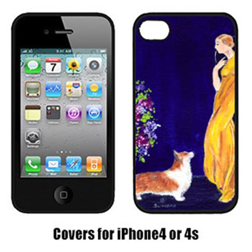 Carolines Treasures SS8546IP4 Lady With Her Corgi Iphone4 Cover