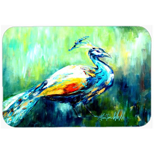 Carolines Treasures MW1160MP 7.75 x 9.25 In. Proud Peacock Green Mouse Pad Hot Pad Or Trivet