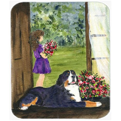Carolines Treasures SS8535MP Little Girl With Her Bernese Mountain Dog Mouse Pad Hot Pad or Trivet