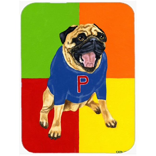 Carolines Treasures AMB1068MP Go Team Varsity Pug Mouse Pad Hot Pad or Trivet