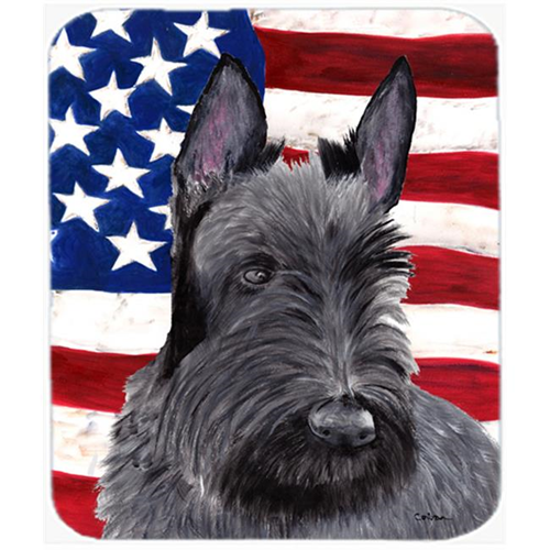 Carolines Treasures SC9032MP Usa American Flag With Scottish Terrier Mouse Pad Hot Pad Or Trivet