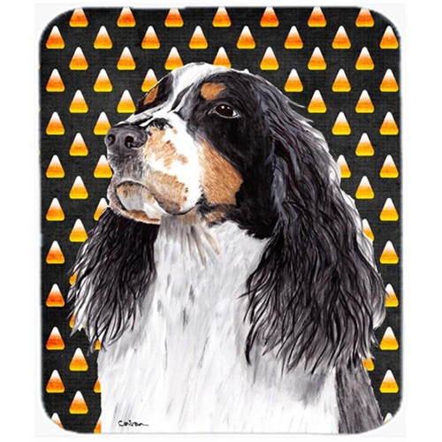 Carolines Treasures SC9172MP Springer Spaniel Candy Corn Halloween Portrait Mouse Pad Hot Pad Or Trivet