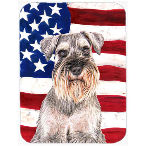 Carolines Treasures KJ1158MP USA American Flag with Schnauzer Mouse Pad Hot Pad or Trivet