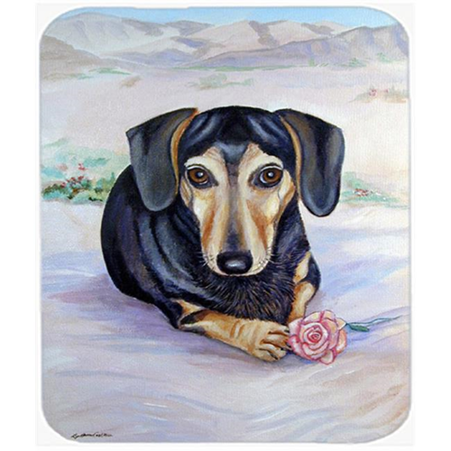 Carolines Treasures 7076MP 9.5 x 8 in. Black and Cream Dachshund Mouse Pad Hot Pad or Trivet
