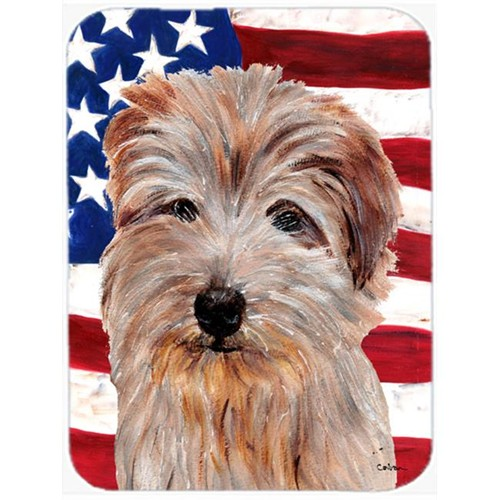 Carolines Treasures SC9640MP Norfolk Terrier With American Flag Usa Mouse Pad Hot Pad Or Trivet 7.75 x 9.25 In.