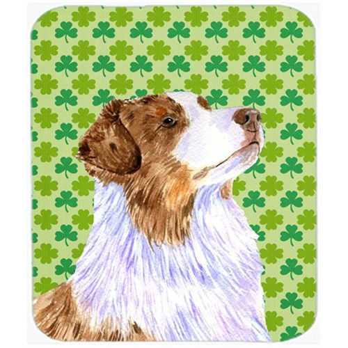 Carolines Treasures LH9183MP Australian Shepherd St. Patricks Day Shamrock Mouse Pad Hot Pad or Trivet