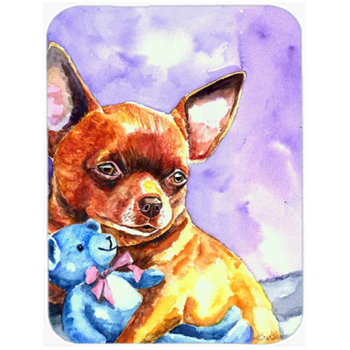 Carolines Treasures 7340MP Chihuahua With Teddy Bear Mouse Pad Hot Pad & Trivet