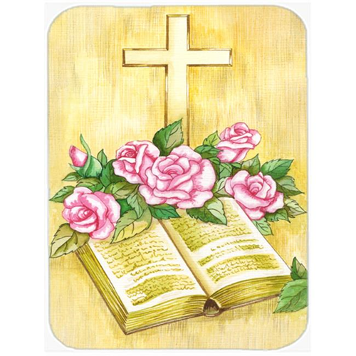 Carolines Treasures APH4072MP Easter Cross & Bible with Roses Mouse Pad Hot Pad or Trivet
