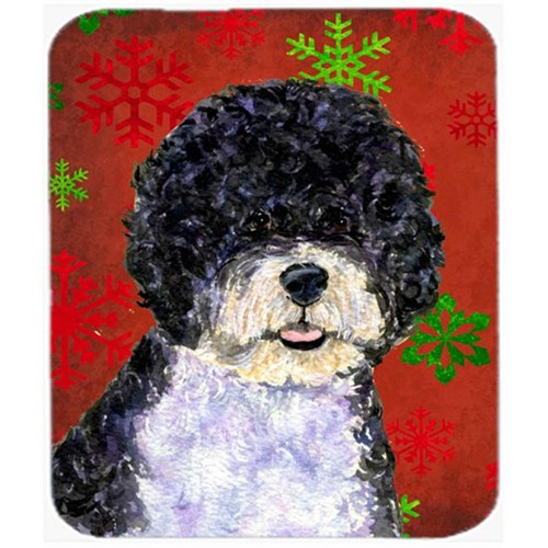 Carolines Treasures SS4697MP Portuguese Water Dog Snowflakes Christmas Mouse Pad Hot Pad or Trivet