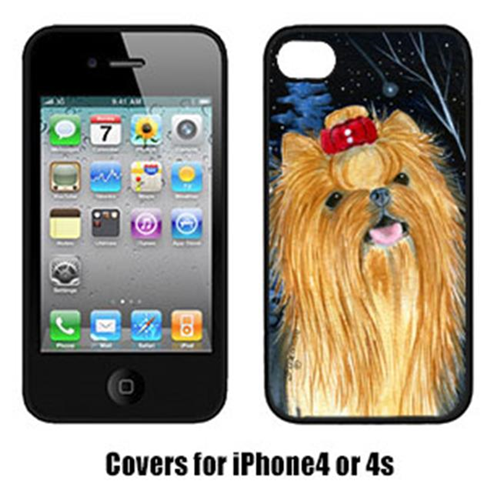 Carolines Treasures SS8413IP4 Starry Night Yorkie Cell Phone Cover Iphone4