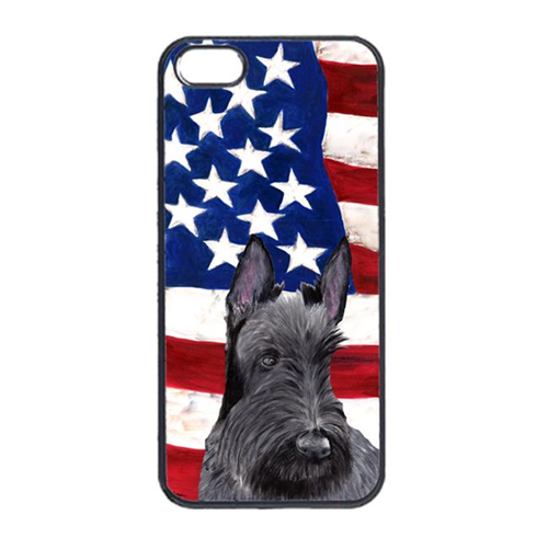 Carolines Treasures SC9032IP4 USA American Flag With Scottish Terrier Iphone 4 Cover