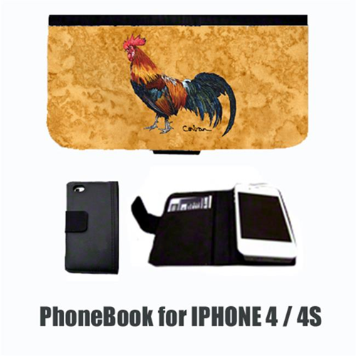Carolines Treasures 8651-NBIP4 Bird Rooster Cell Phonebook Cell Phone case Cover for IPHONE 4 or 4S