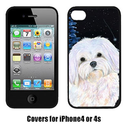 Carolines Treasures SS8460IP4 Starry Night Maltese Cell Phone Cover Iphone 4