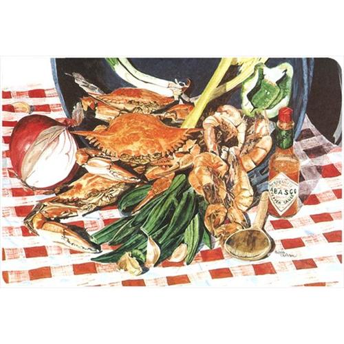 Carolines Treasures 8537MP 9.25 x 7.75 in. Crab Boil Mouse Pad Hot Pad Or Trivet