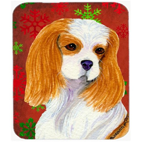 Carolines Treasures SS4734MP Cavalier Spaniel Snowflakes Christmas Mouse Pad Hot Pad or Trivet