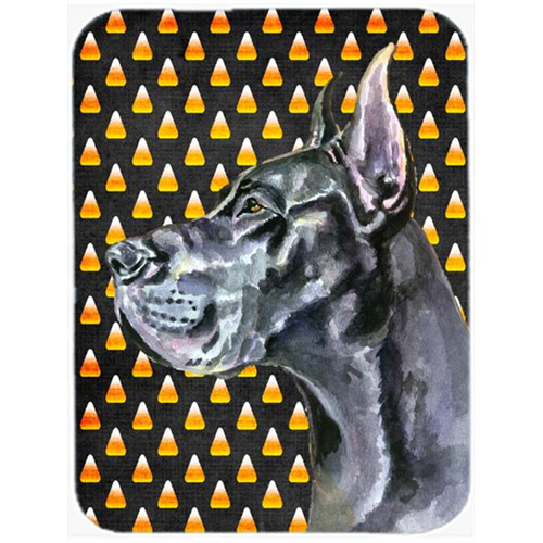 Carolines Treasures LH9550MP Black Great Dane Candy Corn Halloween Mouse Pad Hot Pad & Trivet