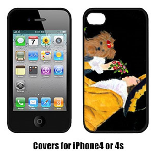 Carolines Treasures SS8541IP4 Lady With Her Yorkie Iphone4 Cover