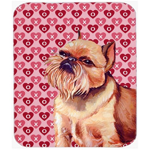 Carolines Treasures LH9134MP Brussels Griffon Hearts Love And Valentines Day Mouse Pad Hot Pad or Trivet