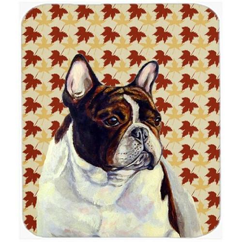 Carolines Treasures LH9112MP French Bulldog Fall Leaves Portrait Mouse Pad Hot Pad or Trivet