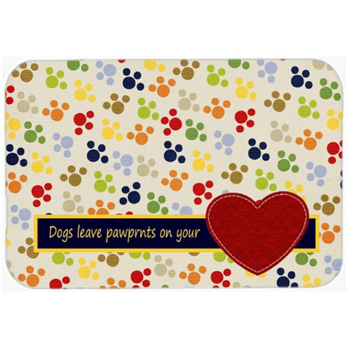 Carolines Treasures SB3054MP 7.75 x 9.25 In. Dogs Leave Pawprints On Your Heart Mouse Pad Hot Pad Or Trivet