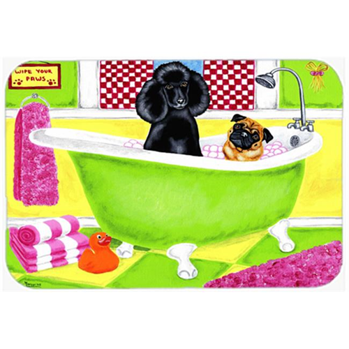 Carolines Treasures AMB1335MP Tub for Two with Poodle & Pug Mouse Pad Hot Pad or Trivet
