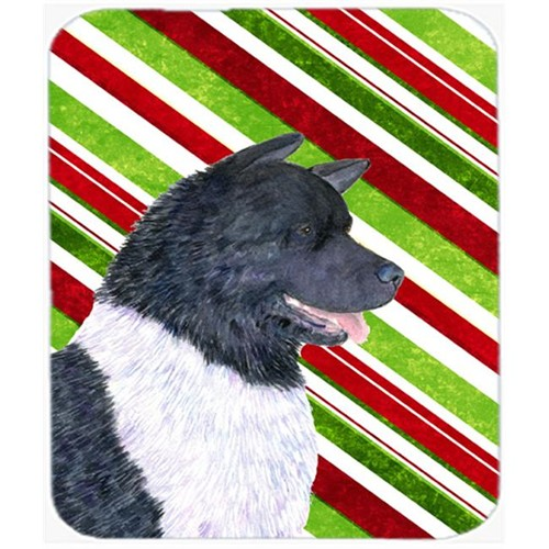 Carolines Treasures SS4590MP Akita Candy Cane Holiday Christmas Mouse Pad Hot Pad Or Trivet